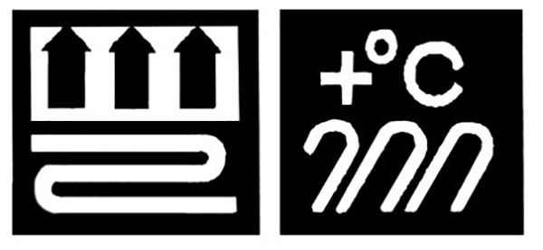 Значок на упаковке ламината